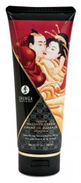 Shunga massage creme - Sparkling Strawberry Wine - 200 ml